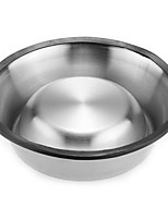Non Slip No Tip Stainless Steel Pet Food Water Dish Bowl 1.5L NEW