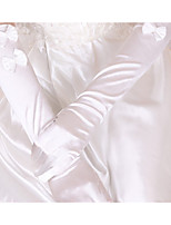 Elbow Length Fingertips Glove Silk Tulle Bridal Gloves Spring Summer Fall Winter Bow