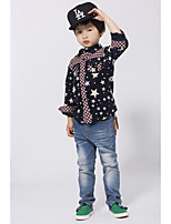 Boy's Casual/Daily Galaxy ShirtCotton Spring / Fall Blue / Yellow