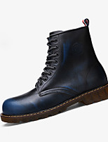 Синий Коричневый Серый Бордовый-Мужской-Повседневный-Полиуретан-На плоской подошве-Удобная обувь-Ботинки
