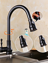 Antique Pull-out Spray with Ceramic Valve Single Handle One Hole for Oil-rubbed Bronze  Kitchen faucet