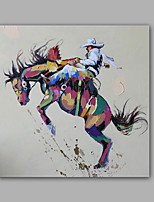 Hand-Painted Abstract / People /Modern One Panel Canvas Oil Painting For Home Decoration