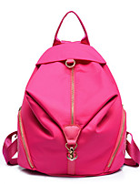 Women Nylon Casual School Bag Purple / Blue / Red / Black / Fuchsia