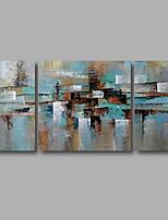 Ручная роспись Абстракция Пейзаж Картины маслом,Modern 3 панели Холст Hang-роспись маслом For Украшение дома