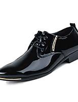 Черный / Синий-Мужской-На каждый день-Кожа-На плоской подошве-Удобная обувь-Туфли на шнуровке