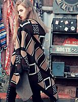 Aporia.As Women Acrylic ScarfCasual RectangleBeigePrint-MZ15026
