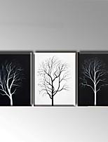 Handgemalte Abstrakt / Landschaft Ölgemälde,Modern / Europäischer Stil Drei Paneele Leinwand Hang-Ölgemälde For Haus Dekoration