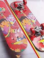 The aluminum round children skateboarding professional cartoon kids skate scooter Double sided design 60 cm maple