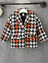 Girl's Casual/Daily Patchwork Trench CoatCotton / Rayon Winter / Spring / Fall Black / Red