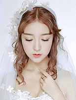 Wedding Veil One-tier Fingertip Veils Cut Edge Tulle