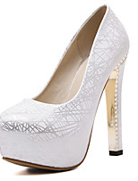 Heels Spring Summer Fall Winter Club Shoes PU Office & Career Party & Evening Dress Chunky Heel Silver Gold