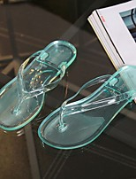 Women's Slippers & Flip-Flops Summer Slingback Leatherette Casual Flat Heel Others Green / Pink / White / Gray Others