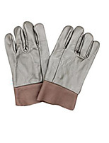 Deep Colour Short Full Skin 144# Protective Welding Gloves 2 Pairs Packaged for Sale