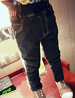 Boy's Casual/Daily Solid PantsCotton Winter Black