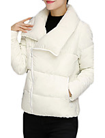 Women's Regular Padded CoatSimple / Active Going out / Casual/Daily / Sports Solid-Cotton Polypropylene Long Sleeve