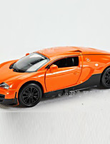 Action Figure Model & Building Toy Car Metal Black / White / Orange For Boys Above 3
