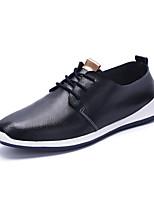 Черный Синий Белый-Мужской-Повседневный-Кожа-На плоской подошве-Удобная обувь-Кеды