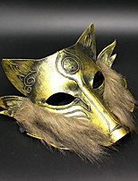1PC Iron Wolf Mask For Halloween Costume Party Random Color