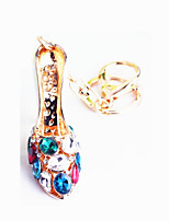 General Zinc Alloy Diamond Crystal Shoes Car  Key Ring