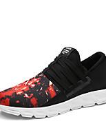 Men's Boots Spring / Fall Comfort PU Casual Flat Heel  Black / Red / Gray / Khaki Sneaker