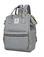 Casual Backpack Women Canvas Gray