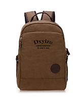 Casual Outdoor School Bag Men Canvas Brown Black