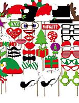 50шт фото реквизита орнаменты рождества колпачок&красные губы&усы