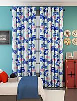פאנל אחד טיפול חלון מעצב , אנימציה חדר שינה פוליאסטר חוֹמֶר וילונות וילונות קישוט הבית For חַלוֹן