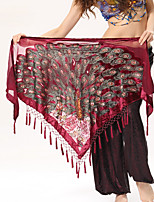 Belly Dance Hip Scarves Performance Polyester Tassel(s) 1 Piece