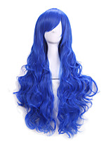 Hot Selling Bule Color Synthetic Cheap Cosplay Wigs For Women Party Wigs