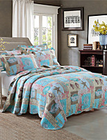 Multi Color Quilts Material King 2pcs Shams / 1pc Quilt