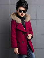 Boy's Casual/Daily Solid Down & Cotton PaddedCotton / Rayon Winter / Spring / Fall Brown / Green / Red