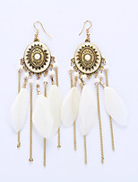 European And American Fashion Tassels Eardrop Disk Long Earrings Big Folk Customs Earrings