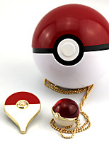 Little Pocket Monster Pikachu Alloy Artificial Gemstones Fairy Ball Crystal Necklace