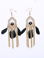 Drop Earrings Earrings Jewelry Feather Alloy Statement Jewelry Fashion Black Red Light Blue Jewelry Wedding Party Halloween Daily 1 pair