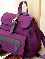 Sports Casual Backpack Women Nylon Purple Blue Red Black