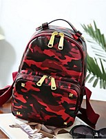 Casual Backpack Women Nylon Purple Red