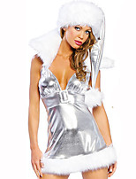 Santa Suits Festival Costumes Silver Solid Hat / Dress Christmas Terylene