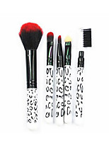 5 Makeup Brushes Set The Persian Wool Portable Wood Face  G.R.C