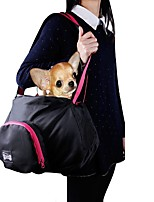 Pet Carrier Bag Black Grey Oxford Portable Folding Pet Carrier Sling Shoulder Backpack Bag for Pets Dogs and Cats