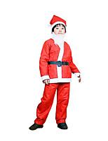 Fête / Célébration Déguisement Halloween Rouge Couleur Pleine Haut / Pantalon / Ceinture / Chapeau Noël Enfant Coton