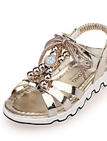 Girl's Sandals Spring / Fall Comfort PU Casual Flat Heel Magic Tape Pink / Gold Sneaker