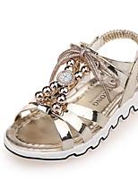 Розовый Золотистый-Для девочек-Повседневный-Полиуретан-На плоской подошве-Удобная обувь-Сандалии