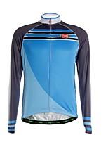 Deportes Maillot de Ciclismo Hombres Mangas largas BicicletaTranspirable / Mantiene abrigado / Secado rápido / Cremallera delantera /
