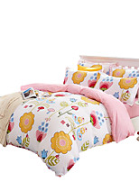 Mingjie Wonderful Pink and White Flowers Bedding Sets 4PCS for Twin Full Queen King Size from China Contian 1 Duvet Cover 1 Flatsheet 2 Pillowcases