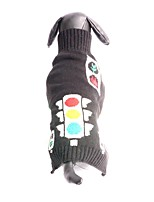Cat / Dog Sweater Black Dog Clothes Winter / Spring/Fall Solid Fashion