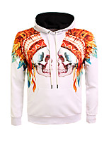 Men's Casual/Daily Going out Simple Boho Hoodie Print Round Neck Micro-elastic Polyester Long Sleeve Fall