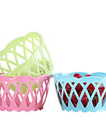 4PC Color Random The Household Culinary Environmental Fruit Wash The Dishes Multifunction Basin Aad Basket