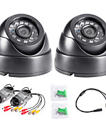 TWVISION 1000TVL H.264 AHD Indoor CCTV Surveillance Security Dome Camera 2pcs Black
