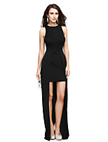 TS Couture® Formal Evening Dress Sheath / Column Jewel Asymmetrical Jersey